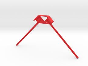 Dual Antenna Mount in Red Processed Versatile Plastic