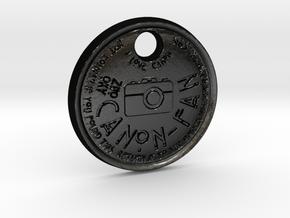 ZWOOKY Style 111 Sample - keychain I love Canon in Matte Black Steel