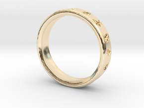PokemonRing - Size 6 Test in 14k Gold Plated Brass