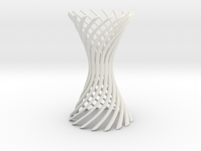 Curved Spiral Hyperboloid in White Strong & Flexible