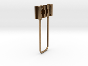 HO simple cross heads in Natural Brass