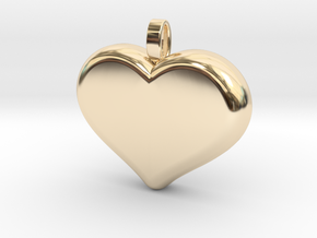 Heart2 in 14k Gold Plated Brass