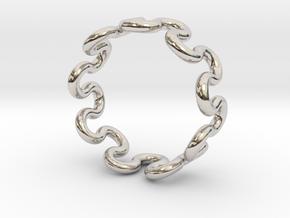 Wave Ring (17mm / 0.66inch inner diameter) in Platinum