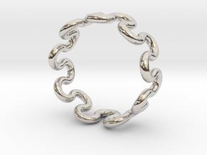 Wave Ring (20mm / 0.78inch inner diameter) in Platinum