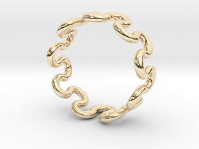 Wave Ring (23mm / 0.90inch inner diameter) in 14K Yellow Gold