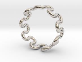 Wave Ring (24mm / 0.94inch inner diameter) in Platinum