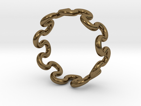 Wave Ring (17mm / 0.66inch inner diameter) in Natural Bronze