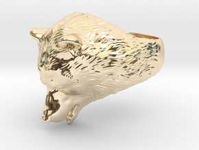 Bear ring in 14k Gold Plated Brass: 9 / 59