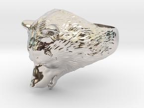 Bear ring in Rhodium Plated Brass: 9 / 59