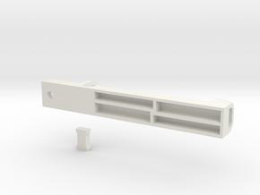 Multi toothbrush holder in White Natural Versatile Plastic