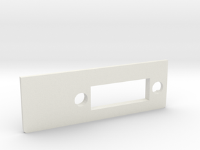 A1200 Rear Expansion DVI Plate MK2 in White Natural Versatile Plastic