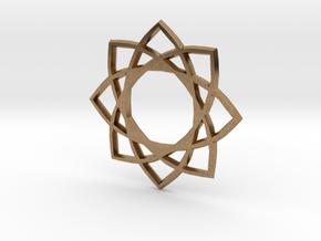 Star Pentagram in Natural Brass