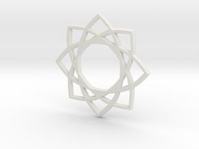 Star Pentagram in White Natural Versatile Plastic