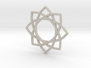 Star Pentagram in Natural Sandstone