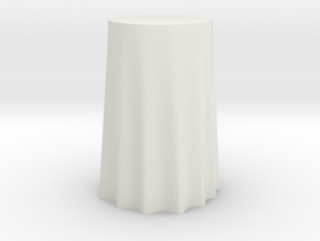 "1:24 Draped Bar Table - 24"" diameter in White Natural Versatile Plastic"