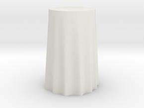 "1:24 Draped Bar Table - 24"" diameter in White Natural Versatile Plastic"