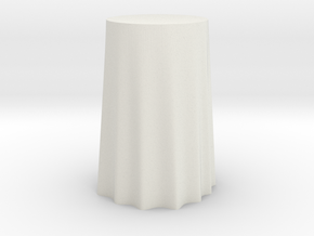 "1:24 Draped Bar Table - 36"" diameter in White Strong & Flexible"
