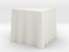 "1:24 Draped Table - 30"" square in White Natural Versatile Plastic"