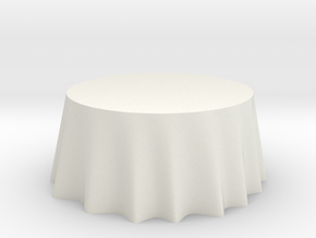 "1:24 Draped Table - 60"" diameter in White Strong & Flexible"