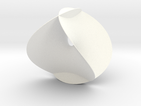 Enneper Minimal Surface in White Strong & Flexible Polished