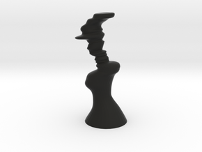 Lovingcouple-3print in Black Natural Versatile Plastic
