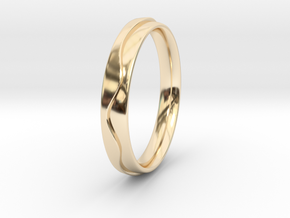 Layered Ring in 14k Gold Plated Brass