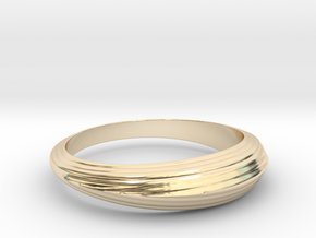 Waves in 14k Gold Plated Brass