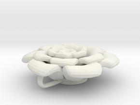 Flower Petals Pendant in White Natural Versatile Plastic