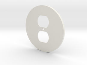 plodes® 1 Gang Duplex Outlet Wall Plate in White Natural Versatile Plastic
