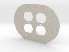 plodes® 2 Gang Duplex Outlet Wall Plate in Natural Sandstone