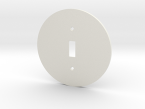 plodes® 1 Gang Toggle Switch Wall Plate in White Natural Versatile Plastic