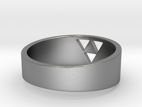 """Triforce Ring - 7""""3/4 in Natural Silver"""