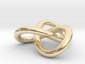 Trefoil Knot Pendant (2cm) in 14K Yellow Gold