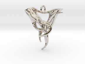 "Elven Pendant ""Airmid"" in Rhodium Plated"