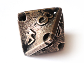 Stretcher Die8 in Polished Bronzed Silver Steel