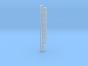 Ladder with Safety Cage in HO scale in Smooth Fine Detail Plastic