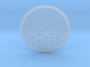 Designer Flower Pendant in Smooth Fine Detail Plastic