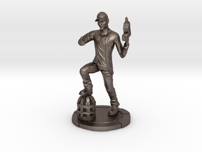 Jcarver 5inch Color in Polished Bronzed Silver Steel