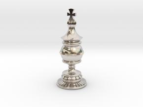 King Chess Piece in Platinum
