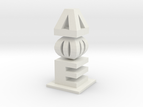 Delta Phi Epsilon letters sculpture in White Natural Versatile Plastic