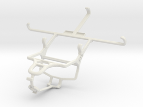 Controller mount for PS4 & Samsung Galaxy Note 3 in White Natural Versatile Plastic
