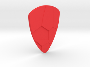 Voronoi  guitar pick in Red Strong & Flexible Polished