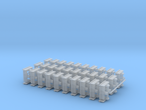 """1/64th Equipment track link set 1. 120 links 24"""" w in Smooth Fine Detail Plastic"""