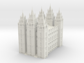 SLC LDS Temple in White Natural Versatile Plastic