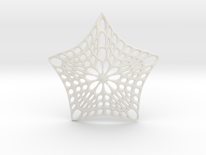 Decorative Ornament 'Star' in White Natural Versatile Plastic