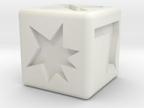 Kampfwürfel in White Natural Versatile Plastic