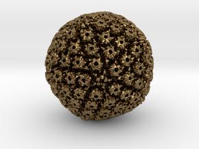 Herpes Simplex virus capsid, radial colour 500kx m in Natural Bronze