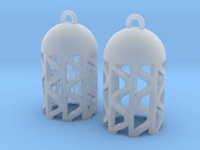 DRAW earrings - tubular waves type 4 in Smooth Fine Detail Plastic