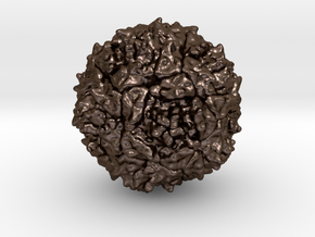 Polio Virus - 2 Million X in Polished Bronze Steel
