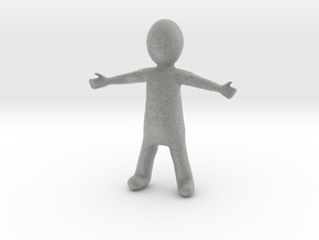 Small Figure in Metallic Plastic